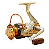 Annymall Full Metal Left/right Interchangeable 12BB Ball Bearing Fishing Spinning Reel for Saltwater/ Freshwater 1000 2000 3000 4000 5000 6000 7000 Series (6000 Series) Review