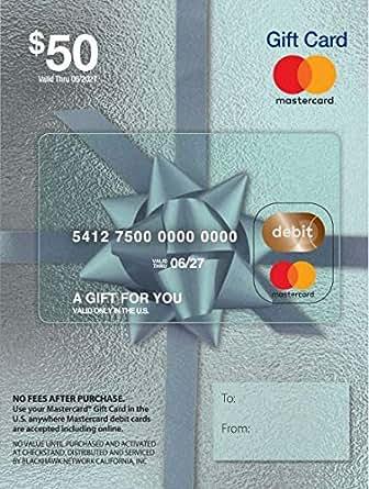 Amazon.com: $50 Mastercard Gift Card (plus $4.95 Purchase