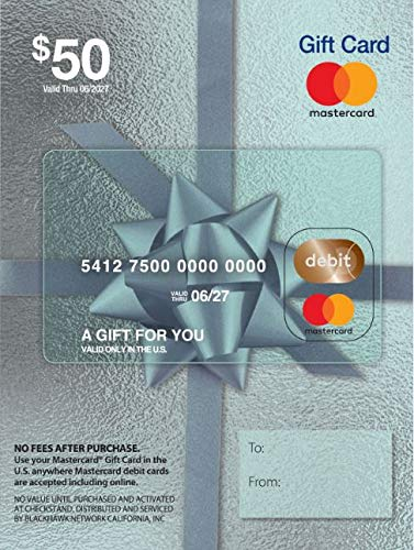 $50 Mastercard Gift Card (plus $4.95 Purchase Fee) -