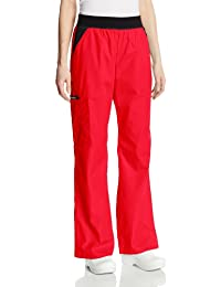 Cherokee Women's Scrubs Flexibles Mid-Rise Contrast Waist Pull-On Pant