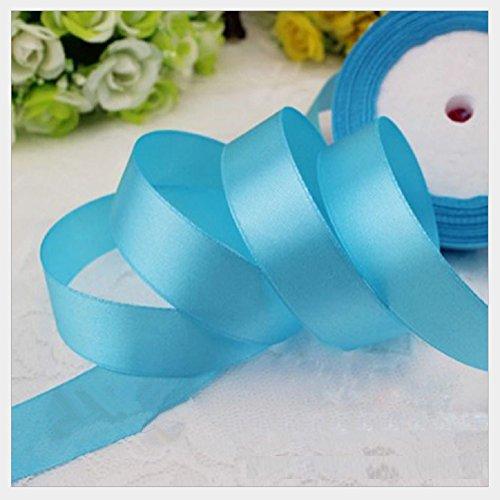 HG-X @ Fashion Pastel Color Double Face Satin Ribbon Grosgrain Ribbon for Handcraft-25 Yards (Aqua)