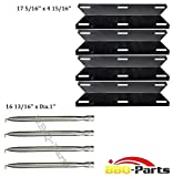 Hongso Perfect Glo Grill Rebuild Kit Replacement Heat Plate and Burner 4 Pack kit (SBZ361-PPC041)