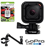 GoPro HERO4 Session w/ GoPro Camera The Jam Adjustable Music Mount AMCLP-001 + 32GB MicroSD Class 10 Memory Card