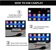 USB Carplay Dongle,Android Auto, Mirroring, Mini Smartphone