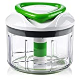 ZYLISS Easy Pull Food Chopper and Manual Food Processor - Vegetable Slicer and Dicer - Hand Held (Green.)