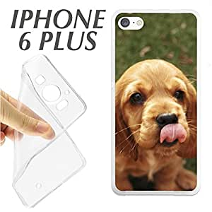 "J244 IPHONE 6 PLUS 6+ CARCASA FUNDA TPU CACHORRO GOLDEN ENTRA""ABLE CARI""OSO"
