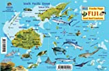 Fiji Map and Reef Creatures Guide Franko Maps Laminated Fish Card