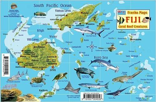 Fiji Map Reef Creatures Guide Franko Maps Laminated Fish Card - Amazon maps