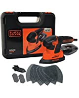 BLACK+DECKER KA2500K-GB Next Generation Mouse Sander with Kit Box and 9-Accessories, 120 W