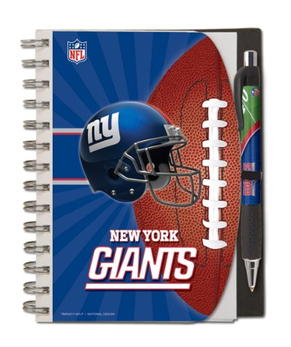 New York Giants Deluxe Hardcover, 5 x 7 Inches Notebook and Pen Set, Team Colors (12024-QUS) ()