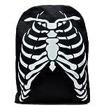 Deathrock Skeleton Rib Cage School Backpack