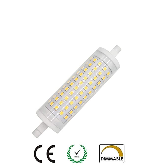 AscenLite R7s LED Lampe 15W J118 T3 118mm Dimmbare LED-Scheinwerfer-Birnen-118mm Double Ended 150W Halogen-Ersatz