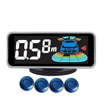 rebirthesame Sensores De Aparcamiento Sistema De Alarma De Asistencia De Estacionamiento De Automóvil Digital con Detector