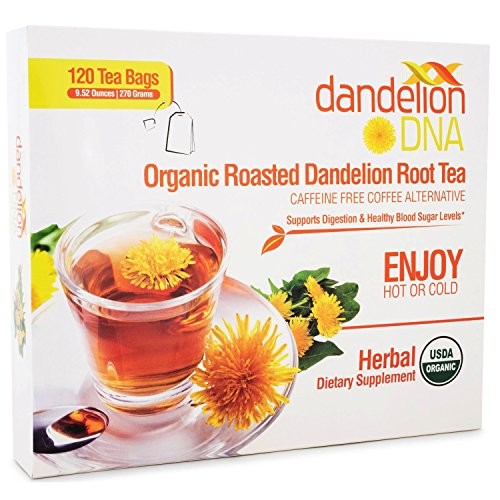 Organic Dandelion Root Tea Bags - Organic Roasted Dandelion Root Tea (120 bags)