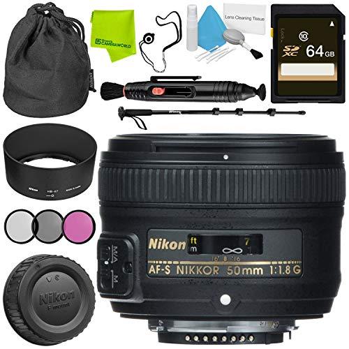 Nikon AF-S NIKKOR 50mm f/1.8G Lens Advanced Bundle