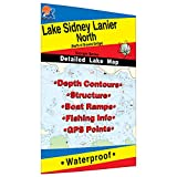 Lake Sidney Lanier-North Fishing Map (North of Browns Bridge)