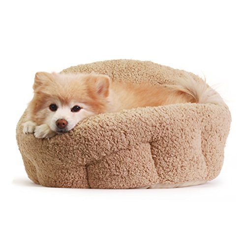 "Best Friends by Sheri OrthoComfort Deep Dish Cuddler (20x20x12"") - Self-Warming Cat and Dog Bed Cushion for Joint-Relief and Improved Sleep - Machine Washable, Waterproof Bottom - For Pets Up to 25lbs (Cuddler Bed)"