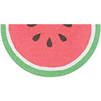Novogratz by Momeni CUCINCNA-3RED1630 Cucina Watermelon Kitchen Mat, 16 x 3 Half Moon, Red