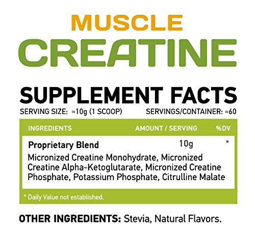 MUSCLE FOOD LABS Muscle CREATINE ★ 3 forms of Creatine ★ Micronized (Orange)
