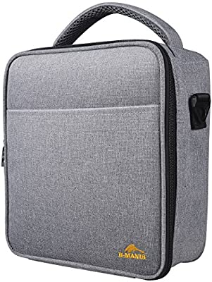 E-manis Insulated Lunch Bag Lunch Box Cooler Bag with Shoulder Strap for Men  Women Kids (french gray) e55ea19ecdd28