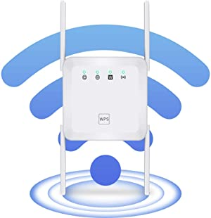 WiFi Range Extender Wireless Signal Repeater Booster, Extend WiFi Signal to Smart Home & Alexa Devices High Resolution Support Desktop Laptop
