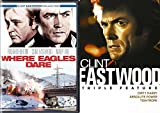Dare Collection Clint Eastwood Films Where Eagles Dare + Triple Feature Dirty Harry / Tightrope / Absolute Power Movie Bundle pack