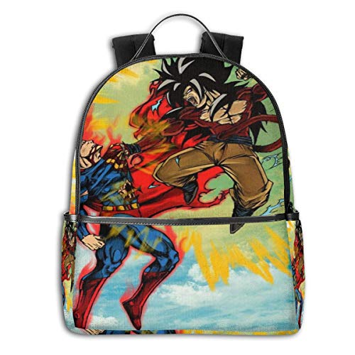 Character Design Unisex Backpack Goku Vs Supes Printed Casual Backpack,laptop Bag,school Backpack