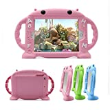CHINFAI® iPad Mini Case for Kids, Safe Shockproof Silicone Rubber Tablet Case for iPad Mini 1 / Mini 2 / Mini 3 / Mini 4 Soft Cartoon Cover (Pink)