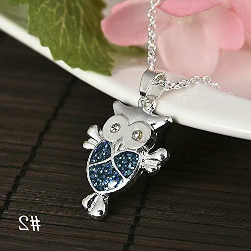Steel Cut Out Lizard - Mikash 1PC Silver Blue Opal Sea Turtle Cutout Pendant Chain Women Necklace Beach Gift | Model NCKLCS - 37345 |