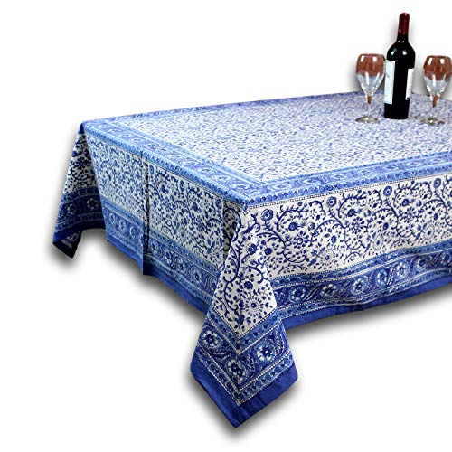 Homestead Rajasthan Block Print Tablecloth-60 x 90