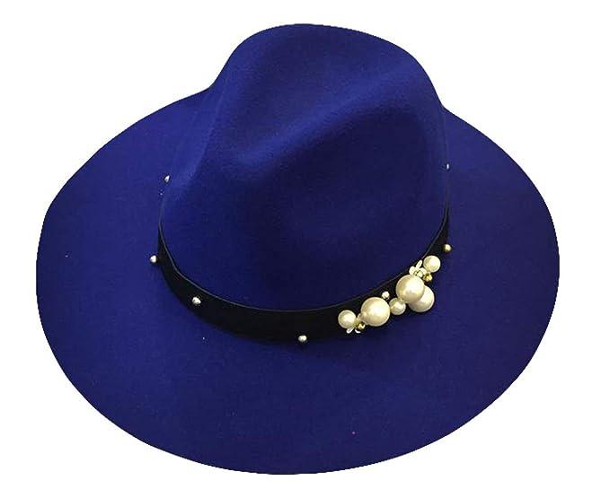... para Mujer Otoño Invierno Perlas Pequeñas con Sombrero Acogedor De Mujer Elegante Moda Retro Sombrero De Fieltro Gorras: Amazon.es: Ropa y accesorios