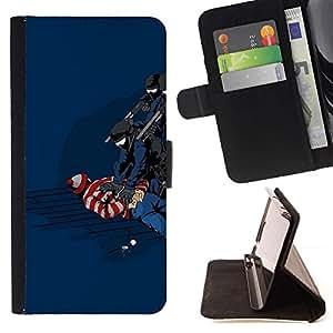 Momo Phone Case / Flip Funda de Cuero Case Cover - Funny Waldo Caught - Sony Xperia Z5 5.2 Inch (Not for Z5 Premium 5.5 Inch)