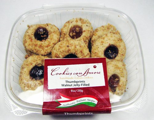 Walnut Sugar Cookies (Cookies Con Amore Handmade Italian Assorted Jelly Filled Walnut Thumbprint Cookies 9 Oz. )