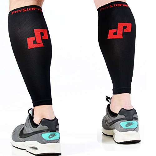 """UPC 610098723066, Physiofinity Calf Compression Sleeves, 10"""" - 14"""" (S/M)"""