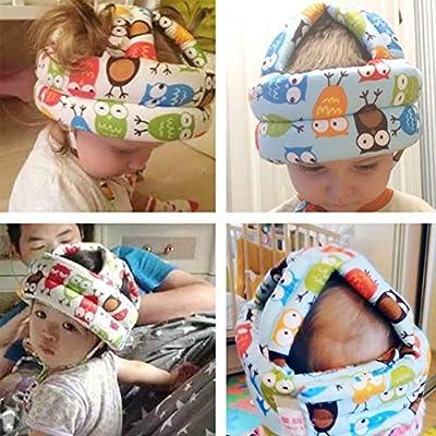 RANRANHOME Safety Helmet Infant Toddler No Bumps Safety Helmet Head Cushion Bumper Bonnet,Pink