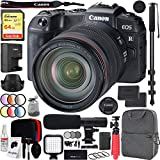 Canon EOS RP Full-Frame Mirrorless Digital Camera Body with RF 24-105mm F4 L is USM Lens Kit and Deco Gear Photo Video Pro Backpack Case Extra Battery Microphone and 72' Monopod Bundle