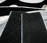 Bluedot Two inch 2'' Wide Black Self Adhesive Fastener Tape Hook + Loop ~ 2 Yards