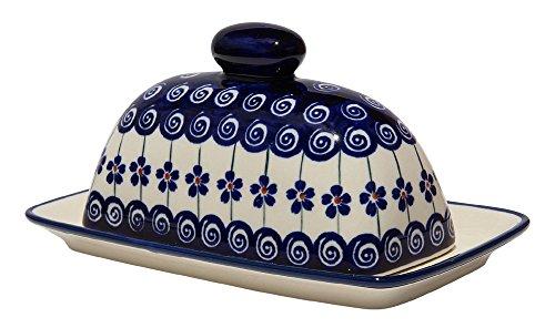 Polish Pottery Butter Dish 4' X 7' From Zaklady Ceramiczne Boleslawiec 1377-1085a Traditional Pattern