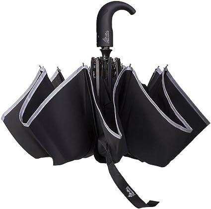 Unisex Compact Automatic Open Travel Umbrella Folding Waterproof Push Button