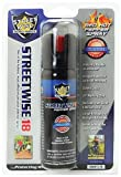 Streetwise Security Products Lab Certified Streetwise 18 Pepper Spray, 3-Ounce, Twist Lock