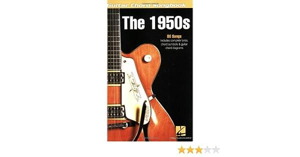 Amazon The 1950s Guitar Chord Songbook Ebook Hal Leonard