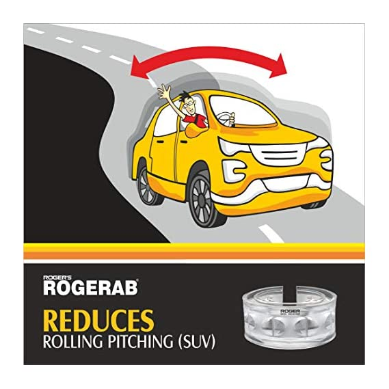 ROGER Mahindra XUV 500 (Model 2016 & Above) Rogerab Car Suspension TPU Buffer For Reducing Rolling-Pitching - 4 Pieces