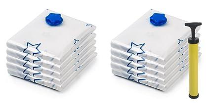 10 uds bolsa de almacenamiento de bolsa de la aspiradora de vacío para ropa de cama y prendas de vestir, ahorro de espacio en la bolsa de ropa