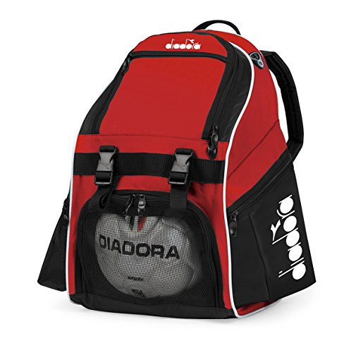 Diadora Squadra II Soccer Backpack, Red/Black