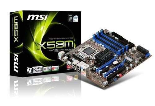 MSI X58M 1366 Intel X58 uATX Intel Motherboard (Socket 1366 Intel Motherboard)