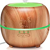 ArtNaturals Aromatherapy Essential Oil Diffuser - (5.0 Fl Oz / 150ml Tank) - Ultrasonic Aroma Humidifier - Adjustable Mist Mode, Auto Shut-Off and 7 Color LED Lights - for Home, Office & Bedroom