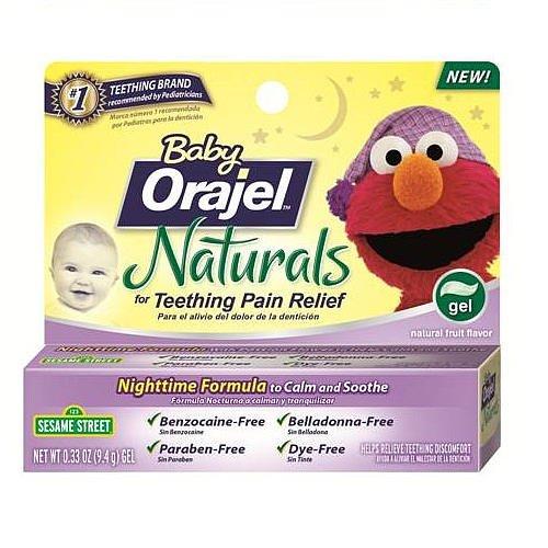 Bébé Orajel Naturals Nightime Teething Gel 0,33 once