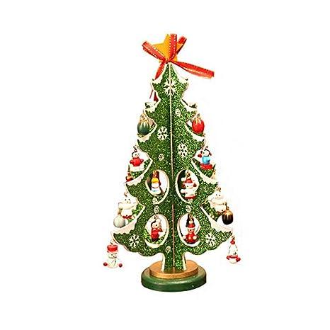 Decorazioni Natalizie Per Ufficio.Desktop Albero Di Natale Legno Medio Polvere Brillante