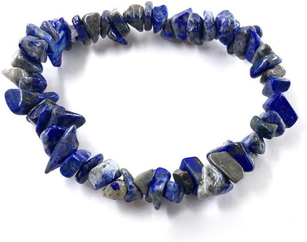 Aya611 Irregular Natural Gem Stone Bracelet Stretch Chip Beads Nuggets Rose Crystal Pulseras De Cuarzo Brazaletes para Mujeres