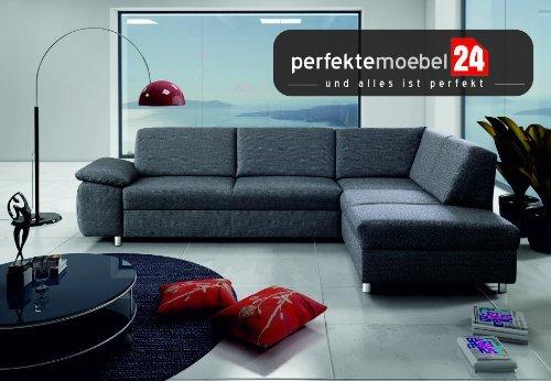NIAGARA Couch mit Schlaffunktion und Bettkasten Eckcouch Sofa Polster Ecke Wohnlandschaft (nebrasca)